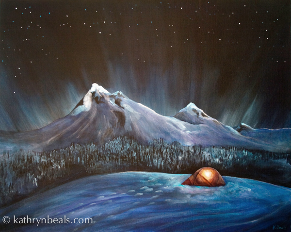 Sweet Dreams & Winter Camping: Finished tent painting | how I paint
